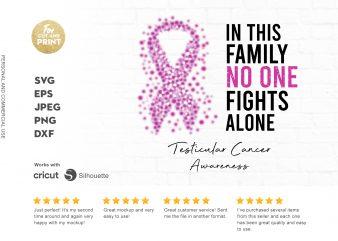 TESTICULAR CANCER awareness t shirt design for download