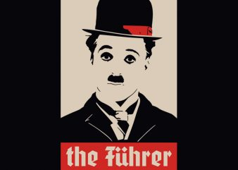 THE FUHRER graphic t-shirt design