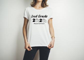 2ND GRADE TOILET PAPER 2020 t shirt design template