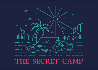 The Secret Camp t shirt design for download