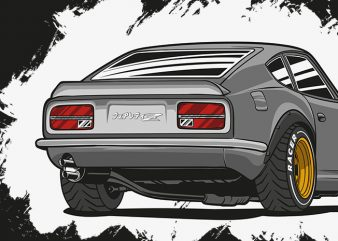 The Z-Car is Fairlady Z graphic t-shirt design