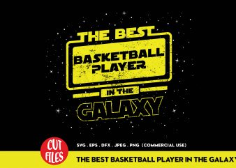 The basketball player in the galaxy buy t shirt design for commercial use