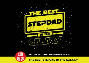 The Best Stepdad In The World graphic t-shirt design