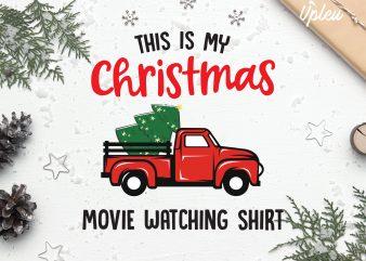 This is My Christmas Movie Watching Shirt buy t shirt design