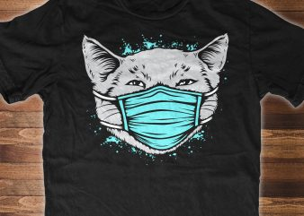 CAT Quarantine 2020 FaceMask – t-shirt design for sale