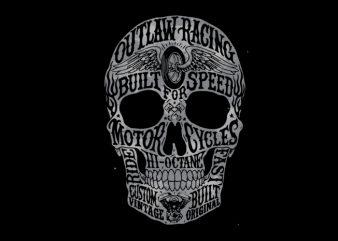 outlow speed skull buy t shirt design for commercial use