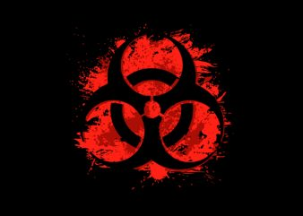 Biohazard graphic t-shirt design