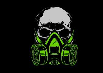 Biohazard Skull buy t shirt design for commercial use