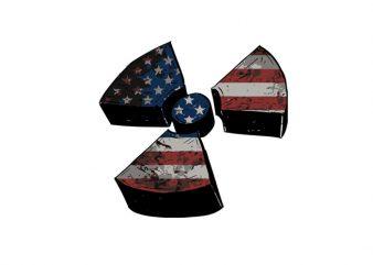 Biohazard usa flag graphic t-shirt design