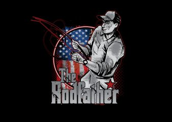The Rodfather print ready t shirt design