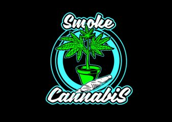 smoke weed print ready t shirt design
