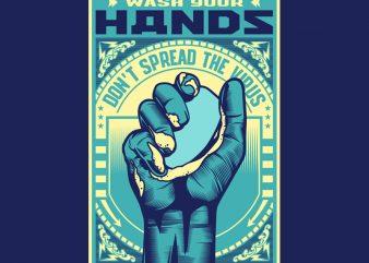 WASH YOUR HANDS buy t shirt design