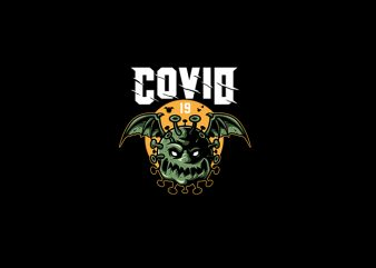 Monster Covid 19 Vector T shirt Design