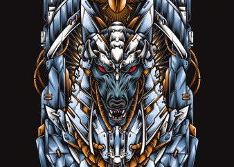 Mecha Anubis t-shirt design for commercial use