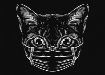 kittern Cat Mask, Nurse, stop spread corona virus shirt design png buy t shirt design