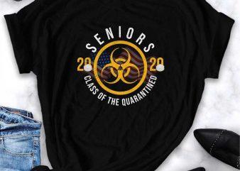 Seniors 2020 Class of the Quarantined 2020 Survived corona virus print ready t shirt design