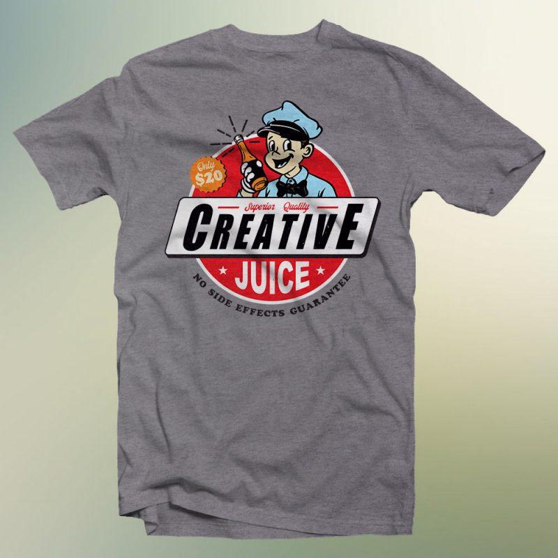creative juice shirt design png print ready t shirt design