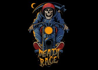 Death race t shirt design for purchase