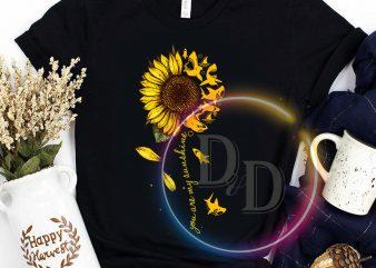 Shark You are My Sunshine Sunflower t-shirt design png