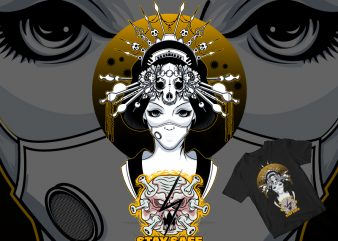 geisha nurse t shirt design for purchase