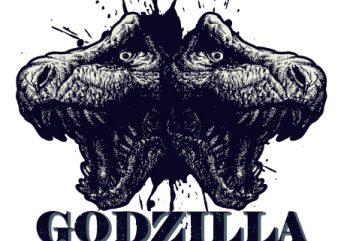 godzilla shirt design png