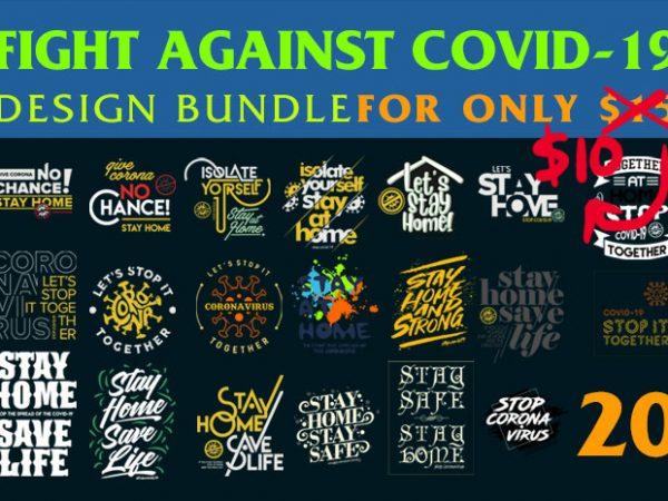 20 Corona Typography Design Bundle