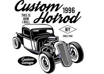 Hotrod vintage custom tshirt design
