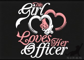 Love Officer t shirt design for download