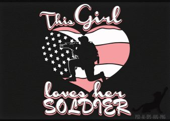 Love Soldier t shirt design template