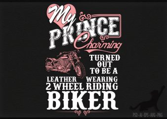 Biker Wife t-shirt design for sale