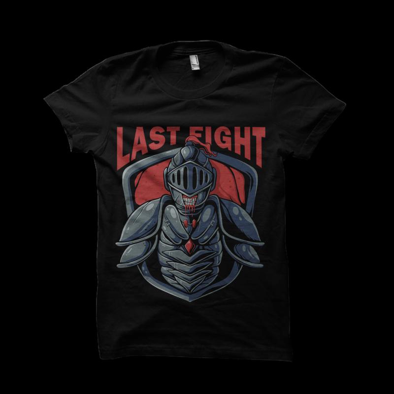 last fight design for t shirt t shirt design for printify