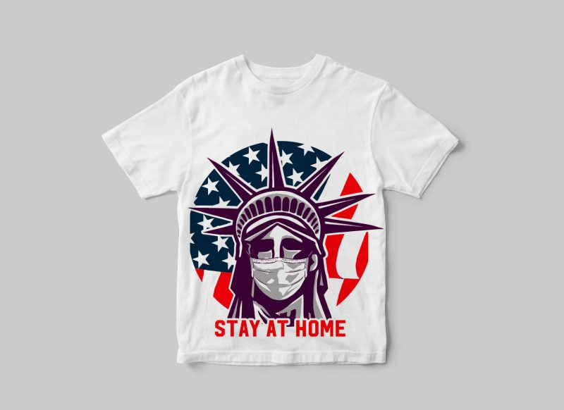 Stay at home ( covid-19 ) buy t shirt design artwork