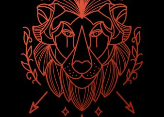 lion tshirt design