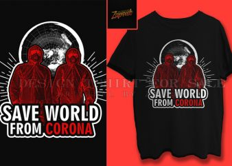 ( 2 variation ) Save World From corona tshirt design for sale ready to print,trend, 2020, viral