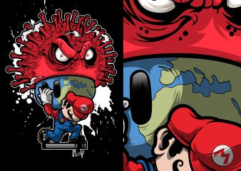 help super mario survive against the corona virus fungus buy t shirt design artwork