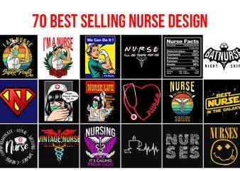 70 Best Selling Nurse Design Bundle buy t shirt design