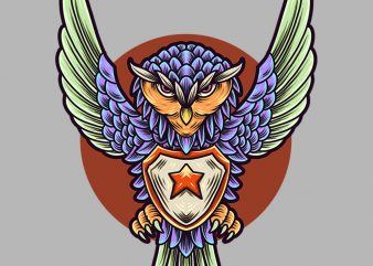 chibi owl guardian tshirt design