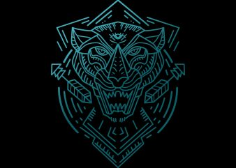 tribal panther tshirt design