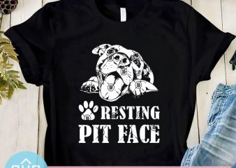 Resting Pit Face SVG, Pitbull SVG, Dog SVG, Animals SVG, Pet SVG t-shirt design png