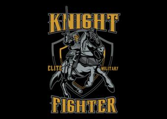 skull knight t shirt design