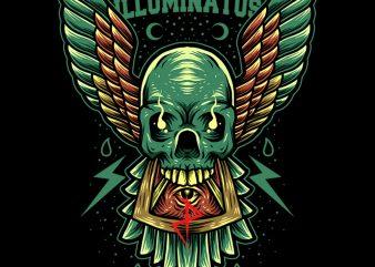 skull illuminati tshirt design