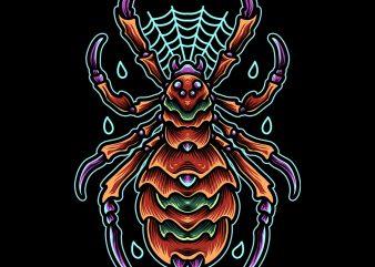 horror spider tshirt design