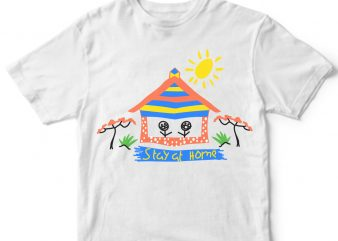 stay at home covid-19 t shirt design template