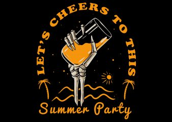 summer party t shirt design for download