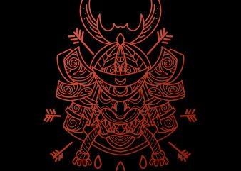 samurai warlord tshirt design