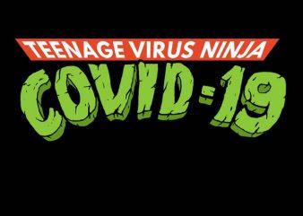 Teenage Virus Ninja Covid 19 Logo buy t shirt design