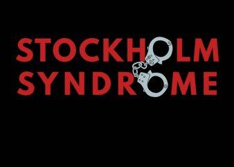 Stockholm Syndrom t-shirt design for commercial use
