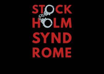 stockholm syndrom graphic t-shirt design