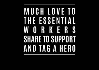 covid 19 heroes essential t shirt design for download
