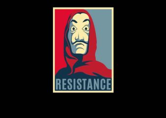 Obey Resistance graphic t-shirt design